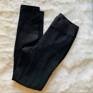 Zara Black High Waist Moto Pants Medium
